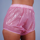 PVC diaper pants with extra wide gusset