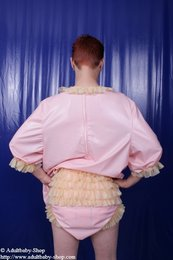 PVC Babydoll shirt and nappy trousers with ruches
