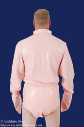 PVC adult baby body with stand-up collar and long sleeves