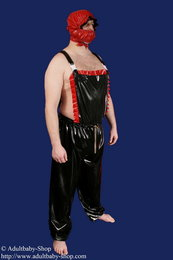PVC Dungarees long legs with frills