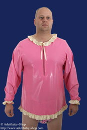 Latex Babydoll shirt with ruches