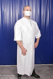 Latex doctor overall with face-mask