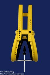 Special spreader pants yellow with option plug and magnet lock