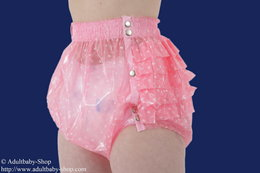 Diaper pants PVC with elastic waist and ruffles at the bottom