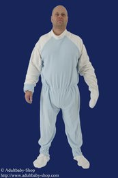 Punishment romper with lockable mittens