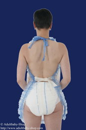 Apron Latex with ruffles