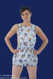 Dungarees Cotton with push buttons and Mickey Mouse pattern