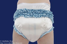 Sissy diaper pants Satin with ruffles