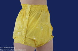 Diaper pants Latex with push buttons and elastic waist- and leg band
