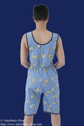 Padded dungarees with velcro fastened