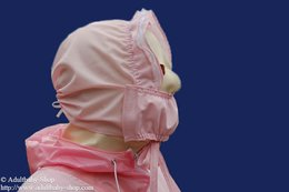 Bonnet with frills and option removable mask