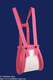Special spreader pants baby pink closed with magnet lock