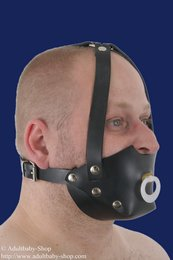 Rubber muzzle with pacifier