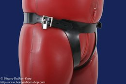 Coercive enema belt option lockable