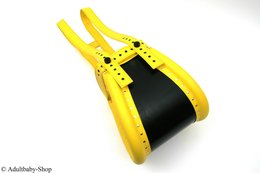 Special spreader pants yellow closed with magnet lock
