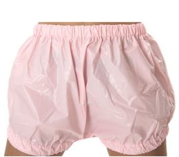 PVC nappy trousers wide cut