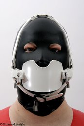 System gag head harness white option different gags and lockable