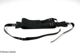 Rubber waist fixation belt for the bed option lockable