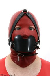 System gag head harness black option different gags and lockable