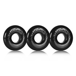 Ringer silicone cockring set of 3 black