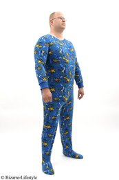 Romper blau with dinosauria pattern size M !!!Single Piece!!!