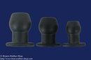 Tunnel Plug speciale silicone, black, different sizes M