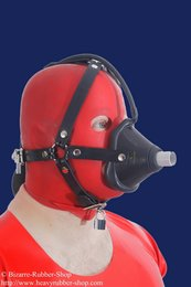 Head harness with anaesthetic mask option lockable