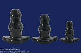 Double Tunnel Plug speciale silicone, black, different sizes