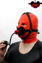 Butterfly gag (big) head harness option lockable