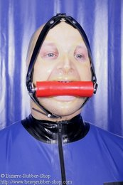 Bite gag head harness option lockable