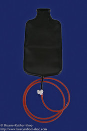 Latex enema bag with pipe