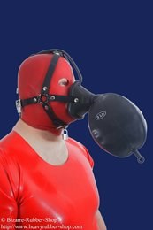 Anaesthetic mask head harness w. breath bag option lockable