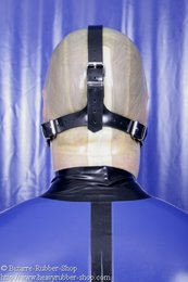 Hollow gag head harness option lockable