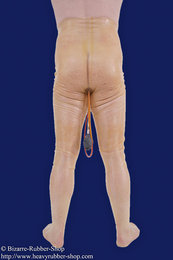 NS-pantyhose with testicle preservative and inflatable enema plug