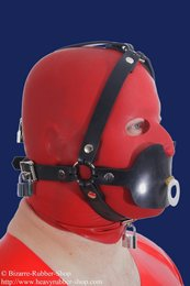 Pacifier gag head harness option lockable