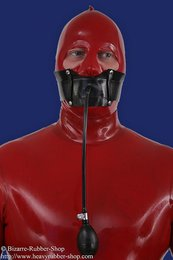 Inflatable gag with head strap
