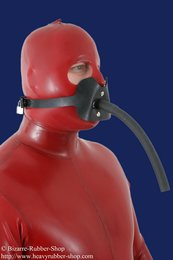Gag harness with tube option lockable
