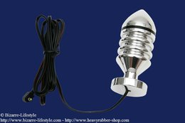 Electro buttplug with grooves different sizes