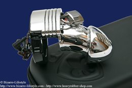 Electro chastity tube for man Public Enemy No.1 Silver Edition